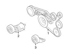 2011 Volkswagen SportWagen Accessory Drive Belt Tensioner