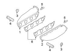 2008 Volkswagen Touareg Exhaust manifold nut. 4.2 LITER