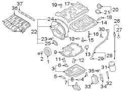 2014 Volkswagen Tiguan Engine Intake Manifold Gasket. Oil