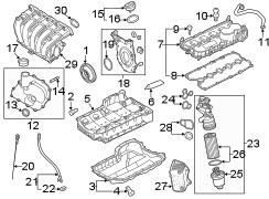 2006 Volkswagen Beetle Convertible Engine Intake Manifold