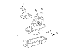 2006 Volkswagen Rabbit Mechanism. Shifter assembly. Auto