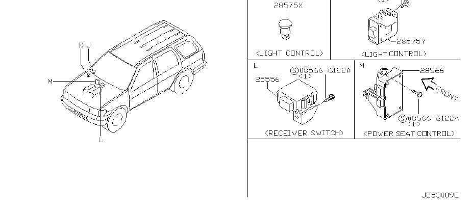 1998 INFINITI Hazard Warning Flasher. BODY, ROOM, ENGINE