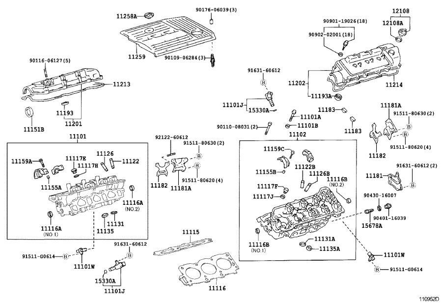Lexus ES 300 Engine Cylinder Head Gasket. Gasket, Cylinder