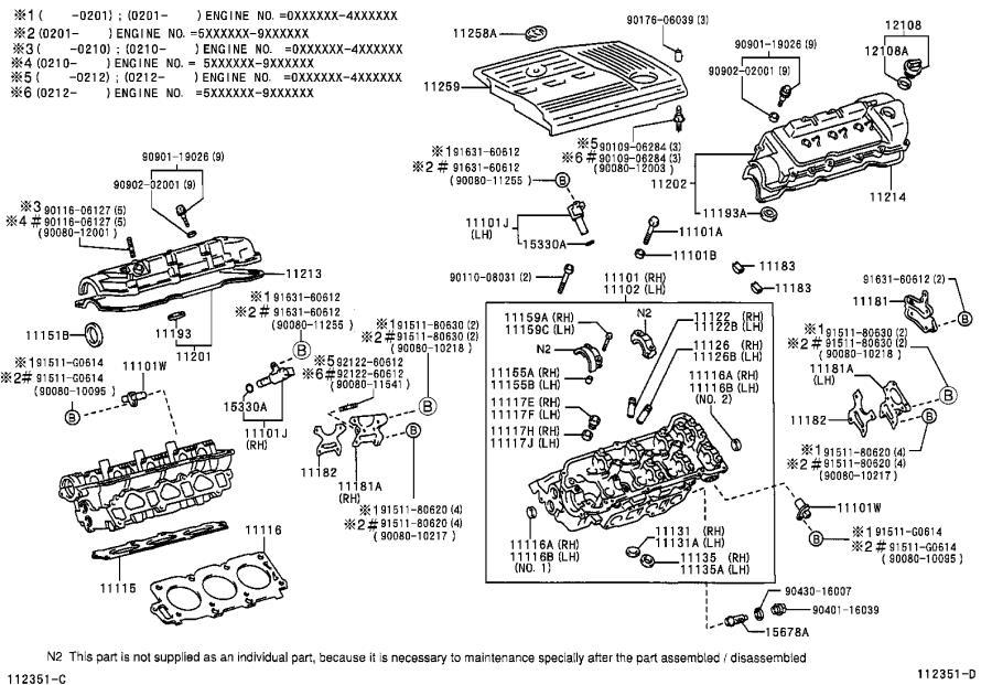 Lexus RX 300 Engine Valve Guide. BUShing, Exhaust Valve