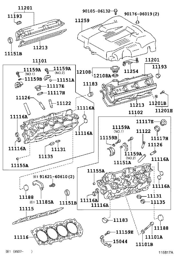 Lexus LS 400 Bolt(for cylinder head cover). Engine