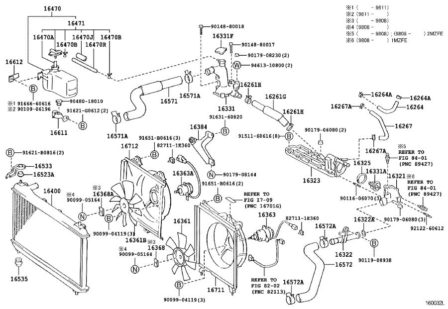 Lexus ES 300 Ring. O(for radiator lower tank); o(for