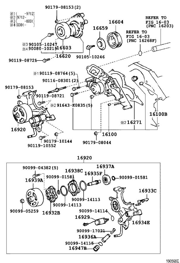 Lexus SC 300 Bolt, stud(for water pump pulley seat