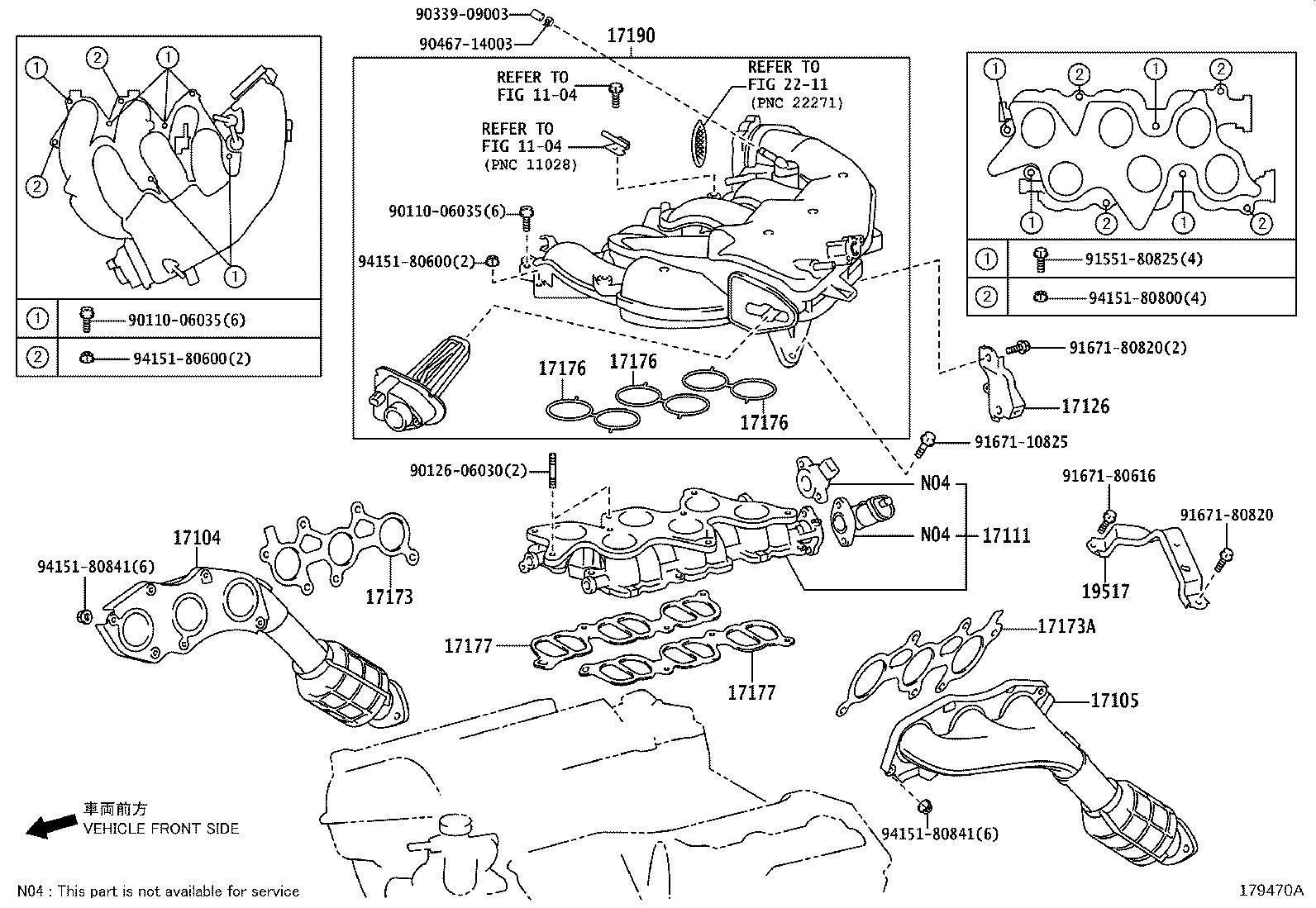 Lexus IS 250 Gasket, air surge tank to intake manifold