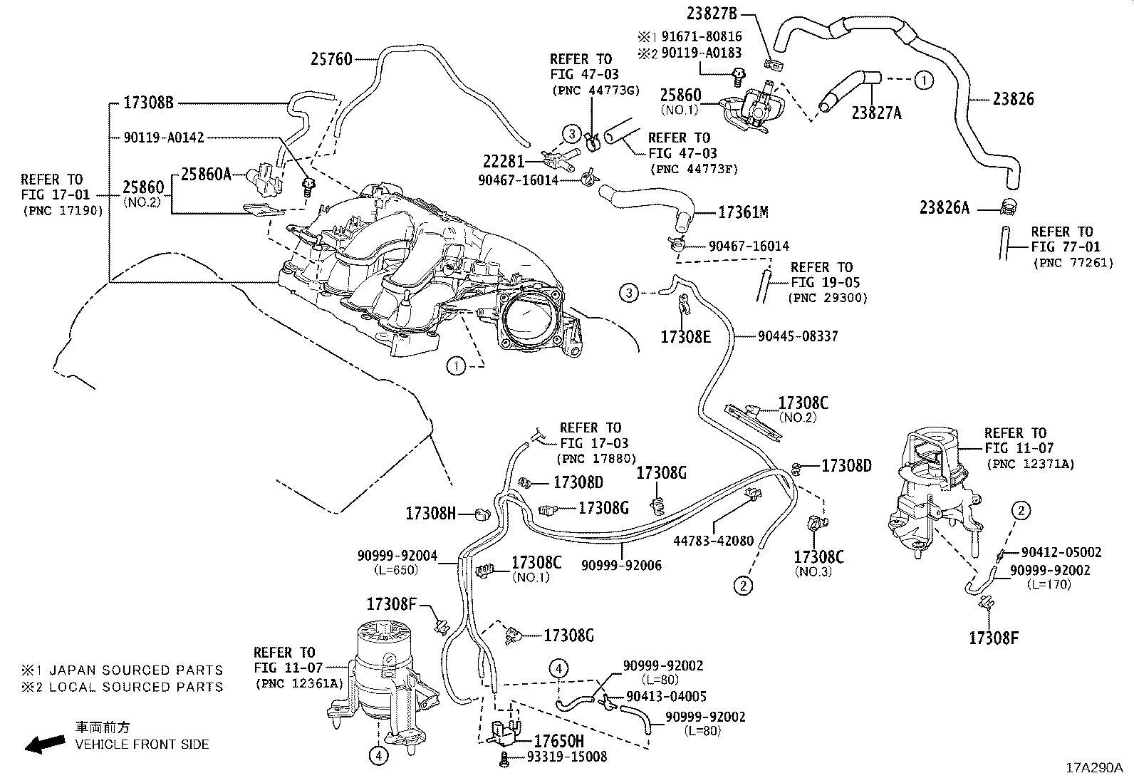 Lexus Es 350 Evaporative Emissions System Lines Hose