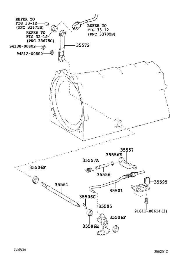 Lexus GS 350 Lever sub-assembly, manual valve. Atm