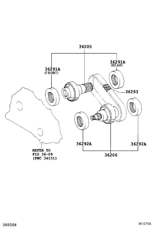 Lexus GS 350 Bearing (for transfer drive sprocket