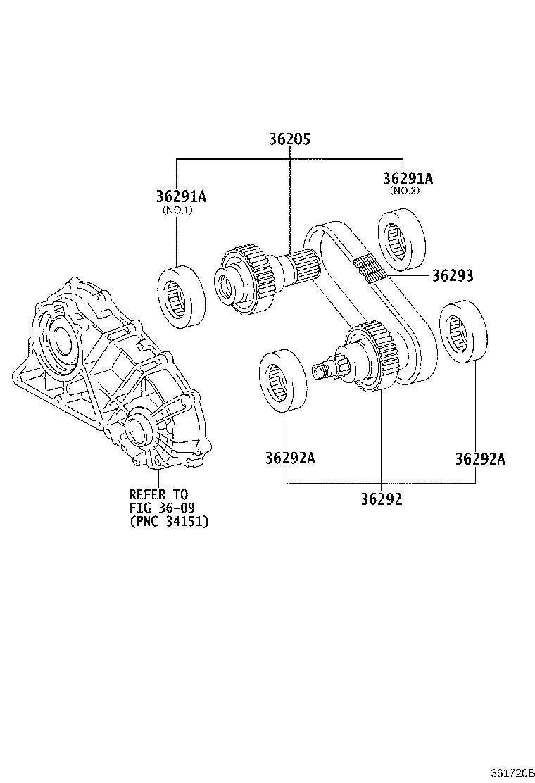 Lexus GS 350 Sprocket sub-assembly, transfer drive