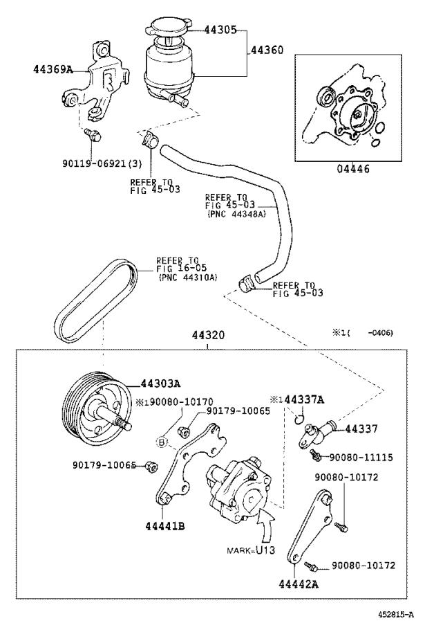 Lexus ES 330 Power Steering Reservoir. Reservoir, Vane