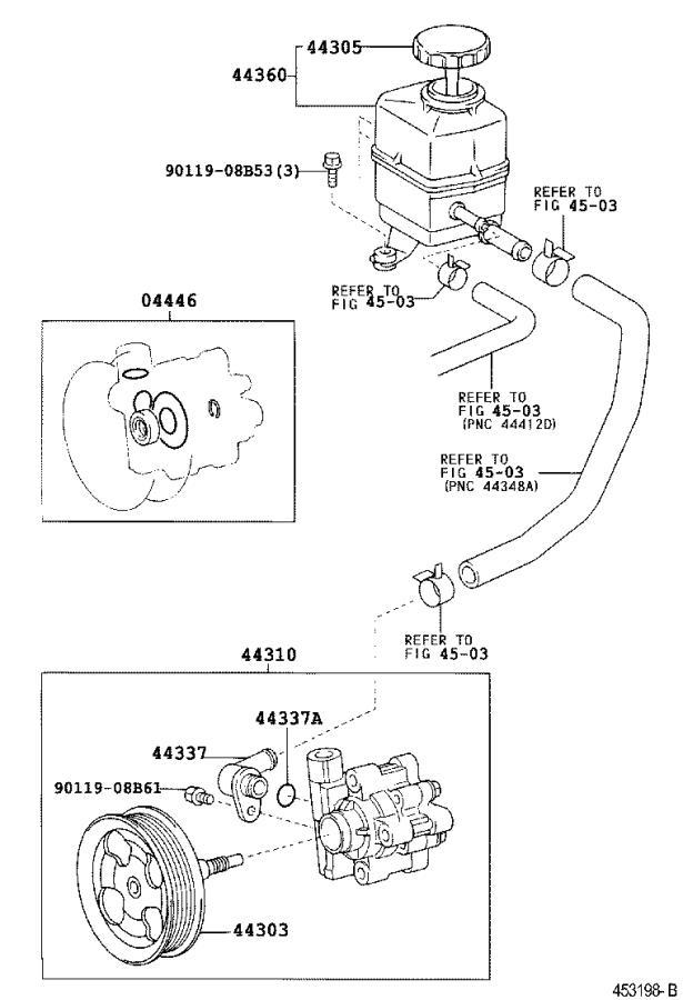 Lexus LX 470 Gasket kit, power steering pump. Brakes