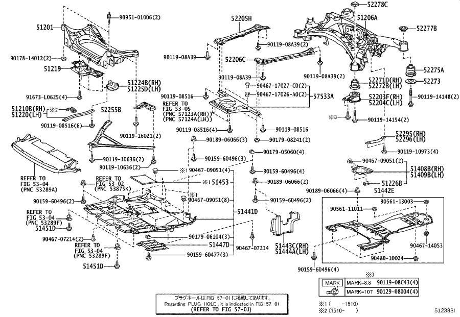 Lexus GS 350 Suspension Crossmember Reinforcement. SPEC