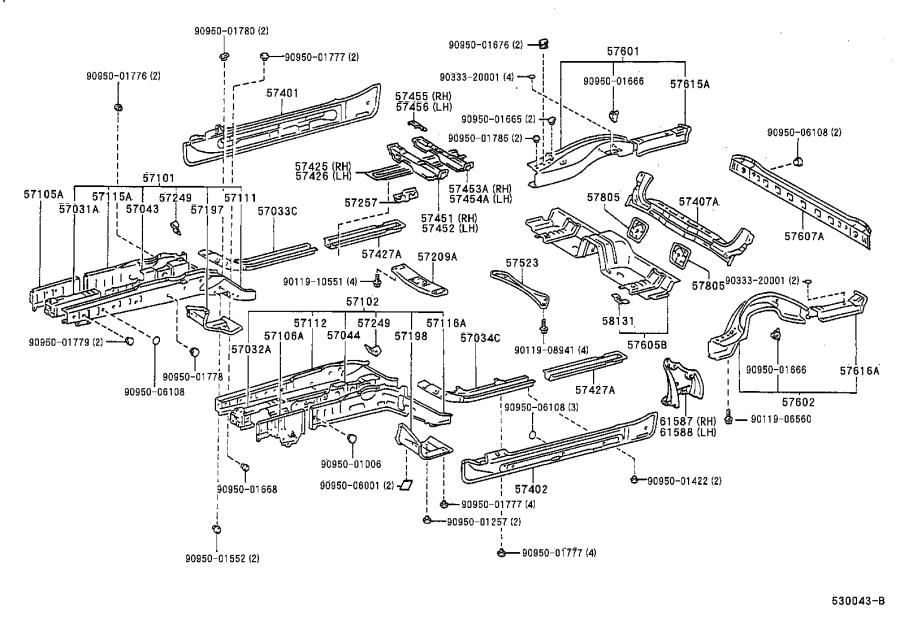 Lexus SC 300 Engine Mount (Rear). Interior, Body