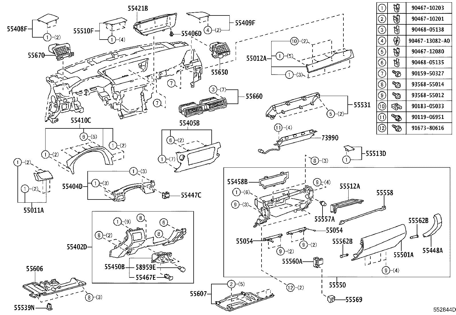 Lexus GS 350 Panel sub-assembly, instrument cluster finish