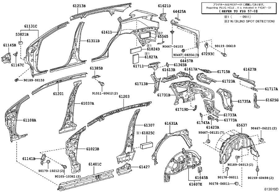 Lexus RX 350 Quarter Panel Filler Panel (Left). Body