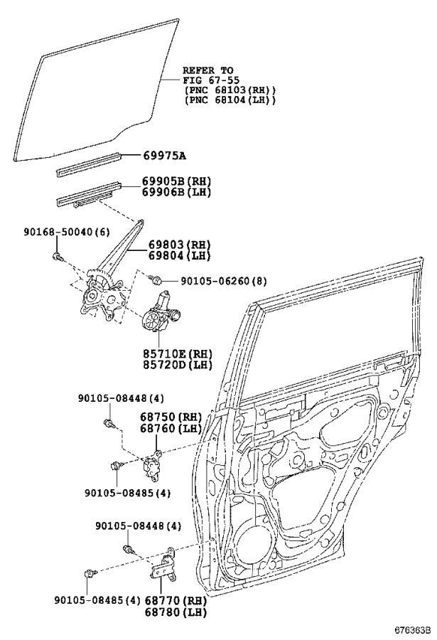 Lexus GX 460 Window Regulator (Left, Rear). Make, DOOR
