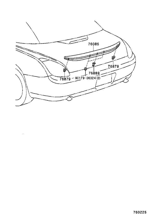 Lexus SC 430 Spoiler sub-assembly, rear. Dk.blue mc. Cc