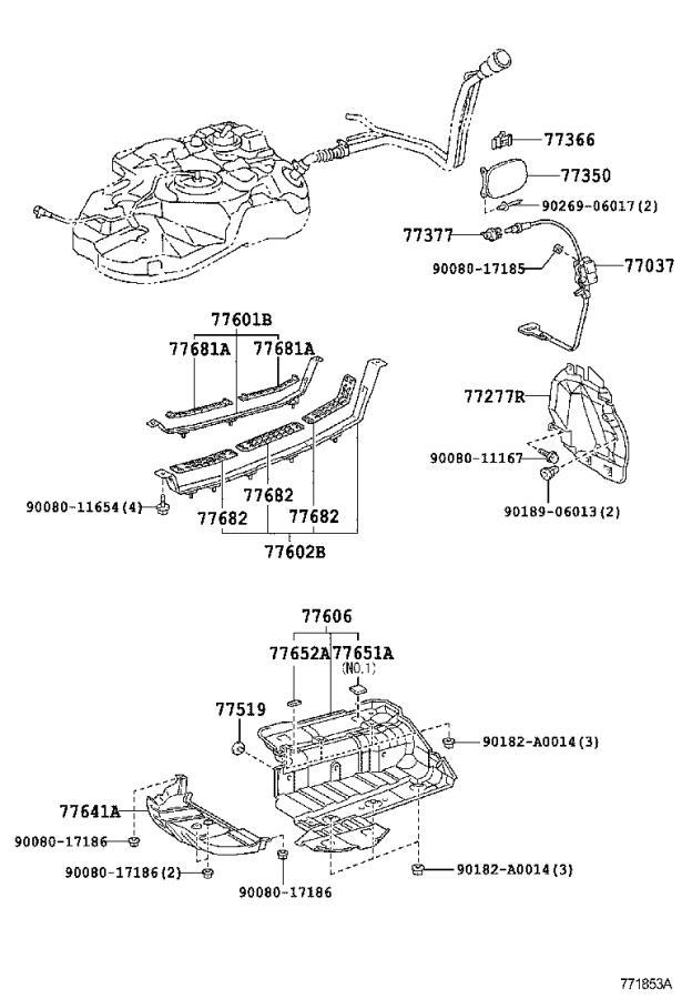 Lexus RX 350 Evaporative Emissions System Lines. FUEL