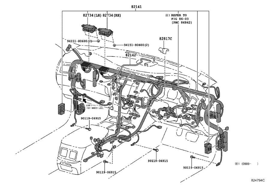 Lexus GS 450h Connector, wiring harness. Seat, door