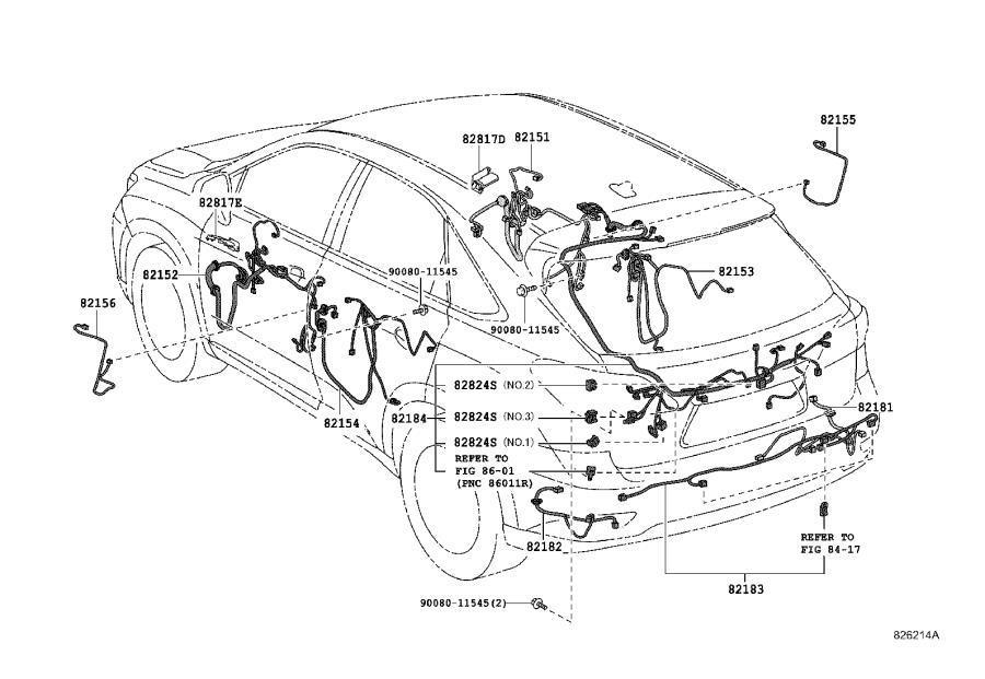 Lexus RX 350 Wire, floor, no. 2. Clamp, engine, bracket