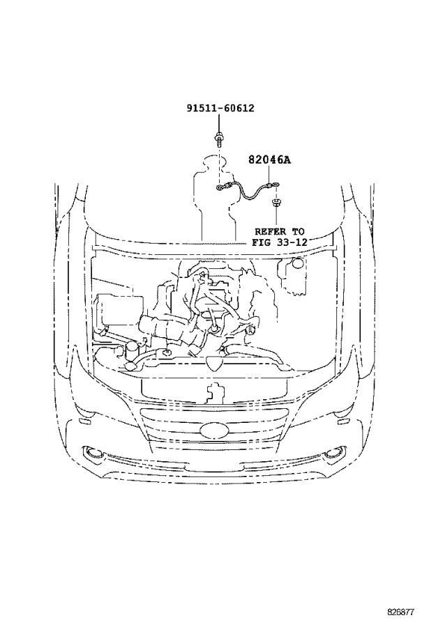 Lexus GX 460 Wire, console box. Panel, engine, instrument