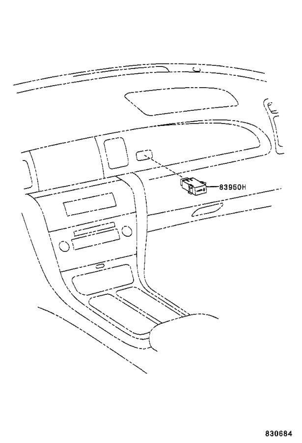 Lexus SC 430 Lamp assembly, passenger seat belt warning