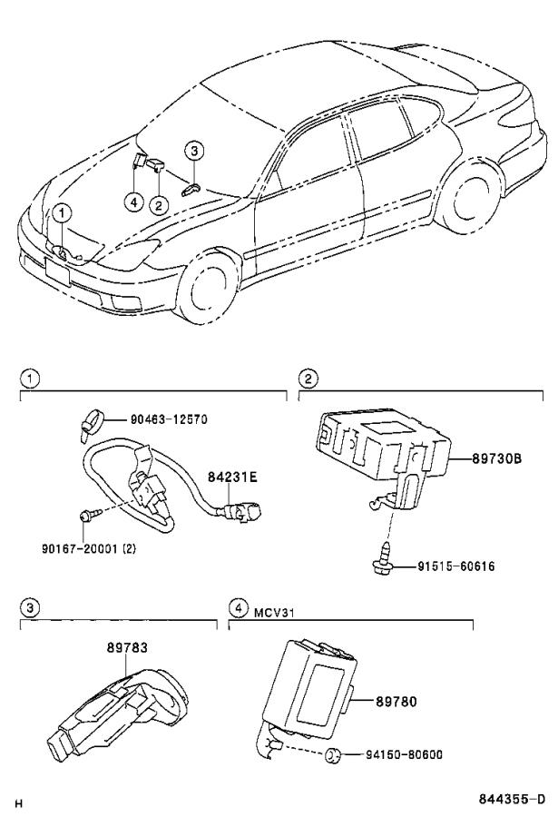 Lexus ES 330 Computer assembly, transponder key. Theft