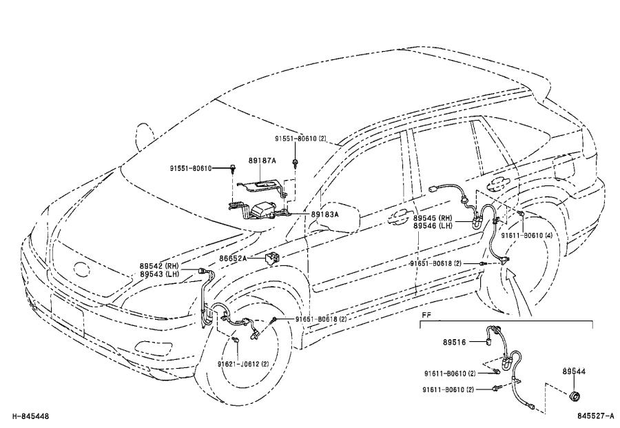 Lexus RX 330 Suspension Yaw Sensor. Sensor, YawRATE