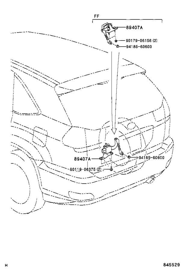 Lexus RX 400h Sensor sub-assembly, height control, rear
