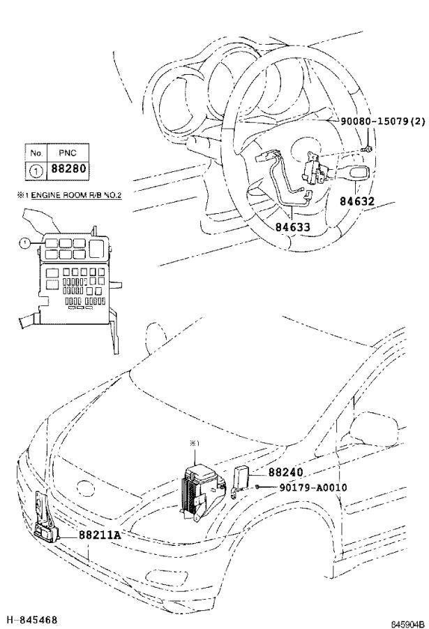 Lexus RX 350 Wire, cruise control switch. Milli, swich