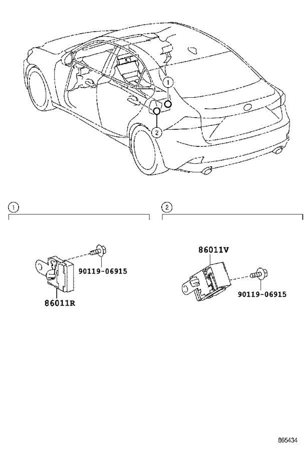 Lexus IS 250 Knob, radio receiver switch. System, audio