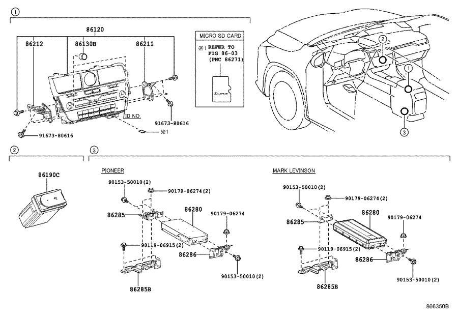 Lexus RX 350 Bracket, amplifier, no. 2. Condenser, mar