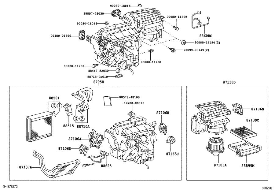 Lexus RX 330 Tube assembly, air conditioner. Ring, heating