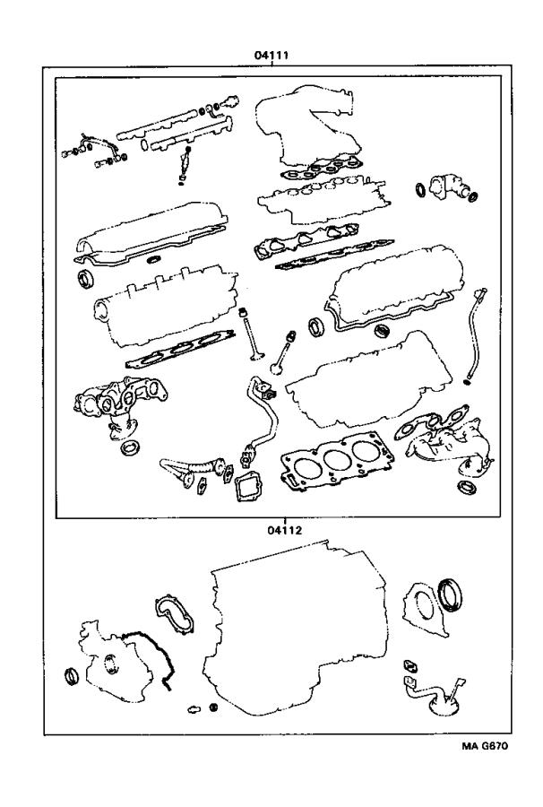 Lexus ES 300 Engine Cylinder Head Gasket Set. Gasket Kit