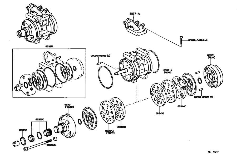 Lexus LX 450 A/c compressor clutch coil. Stator, magnet