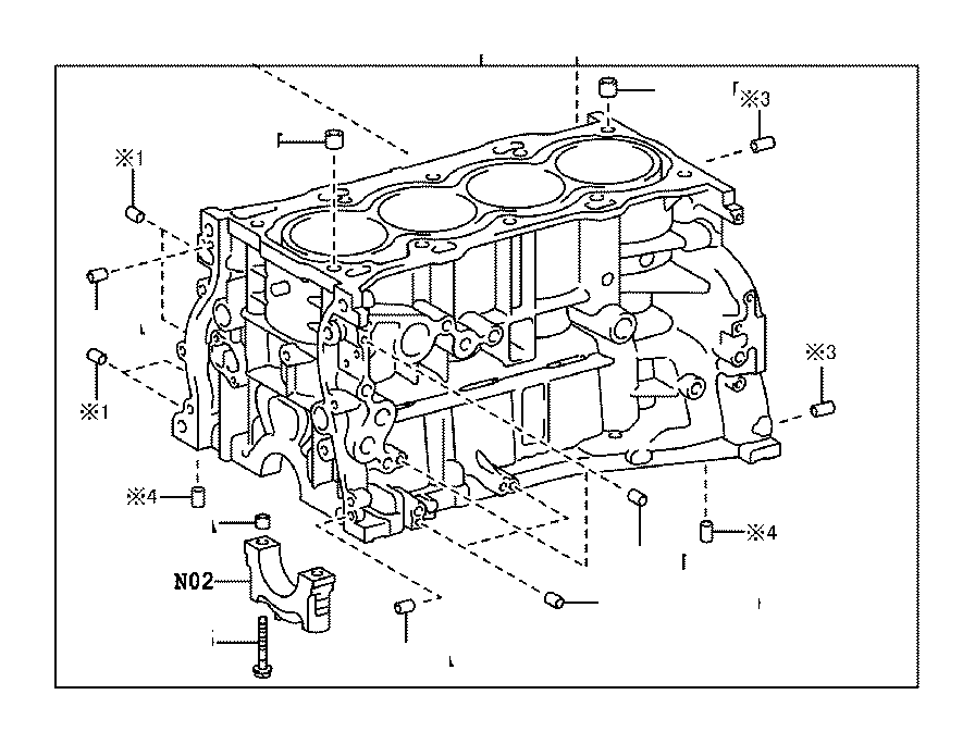 Lexus RX 350 Block sub-assembly, cylinder. Interchangeable