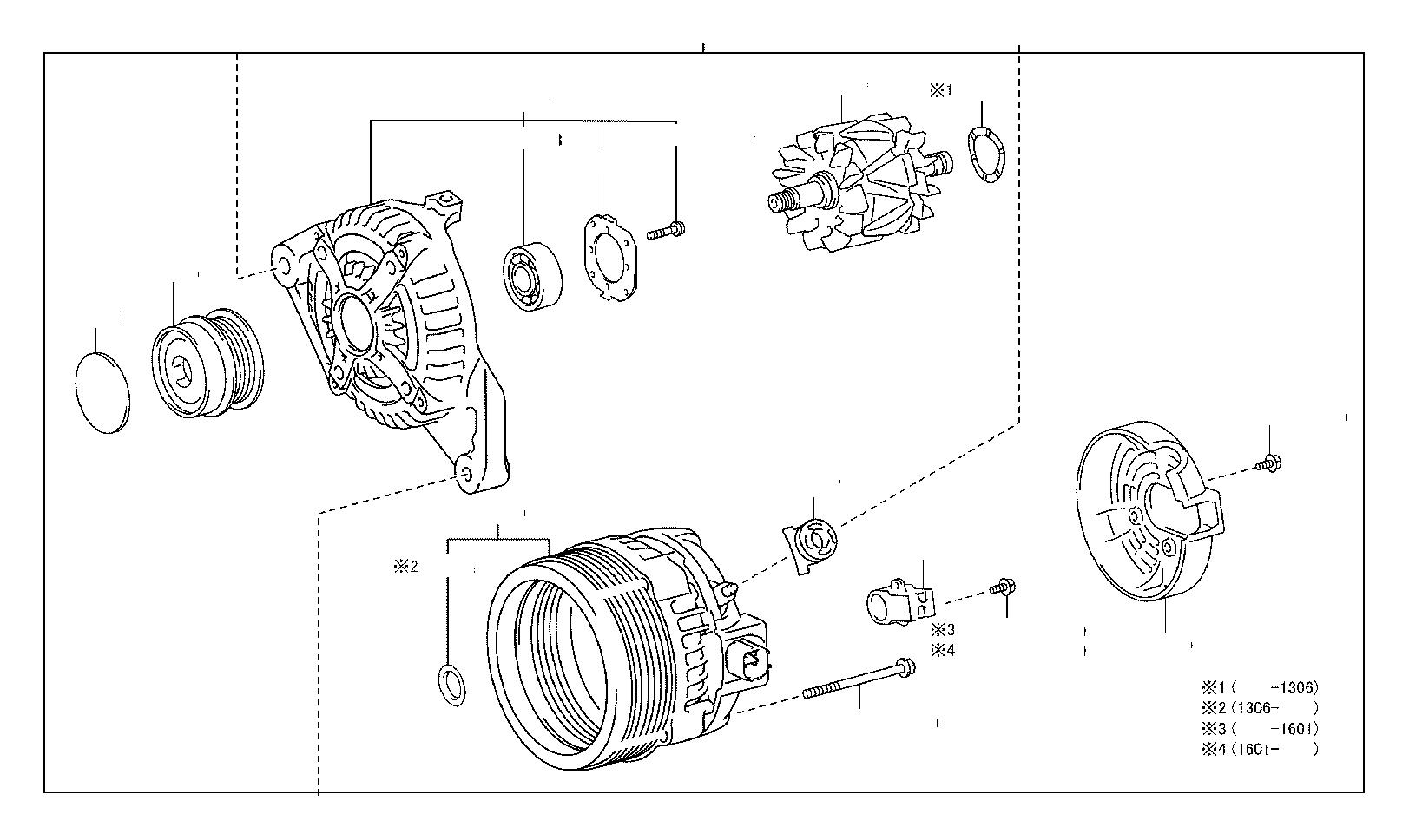 Lexus RX 330 Holder assembly, alternator brush. Frp