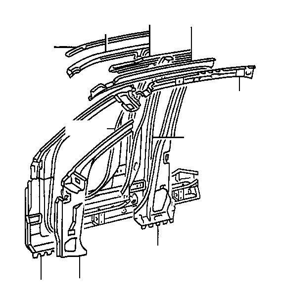 Lexus ES 300 Reinforce sub-assembly, front body pillar