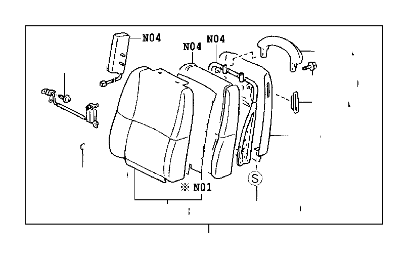 Lexus SC 430 Board sub-assembly, front seat back, right