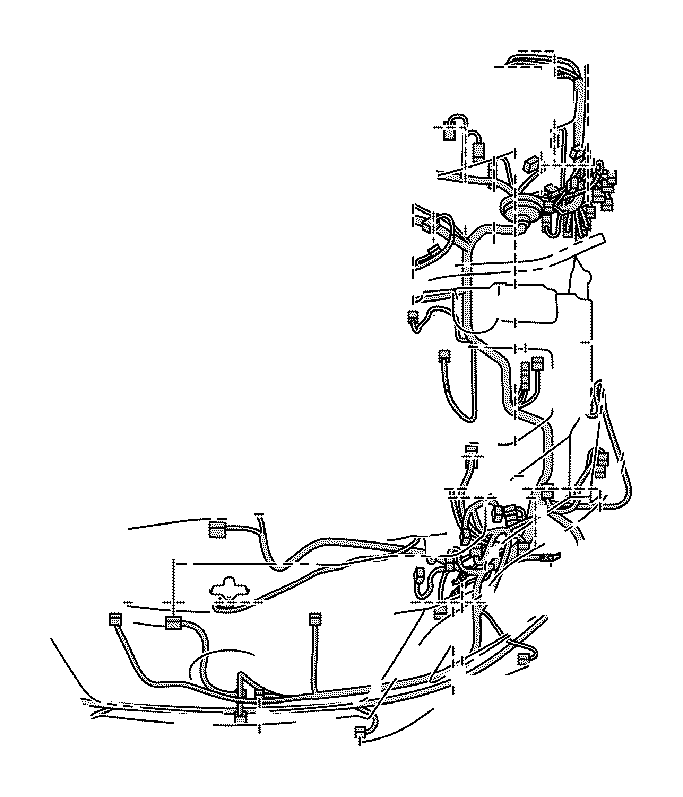 Lexus RX 350 Wire, engine room, no. 3. Clamp, connector