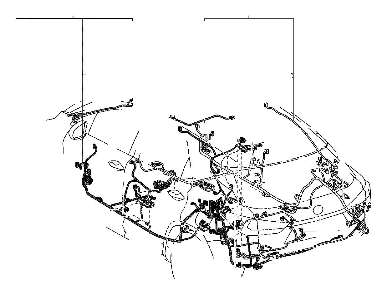 Lexus RX 350 Wire, floor. Engine, clamp, bracket