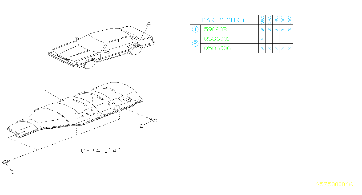 Subaru DL/GL/GL10/RS/RX Tapping Screw HEXAGON Head. Bolt
