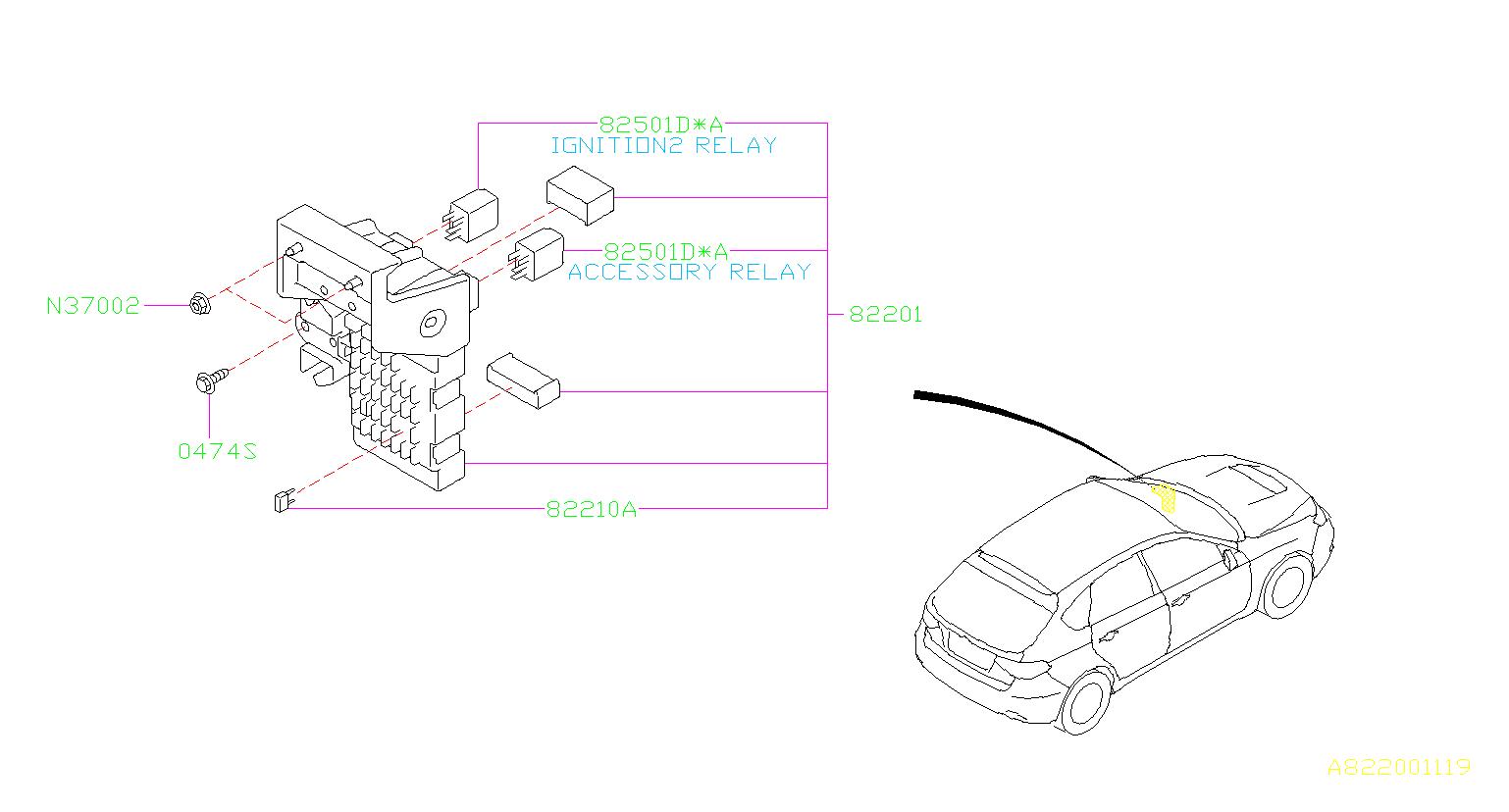 Subaru Impreza Junction Block Joint Box