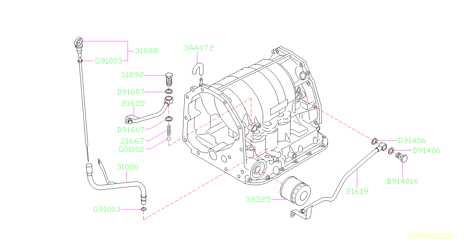 2006 Subaru Forester Auto transmission fluid filter