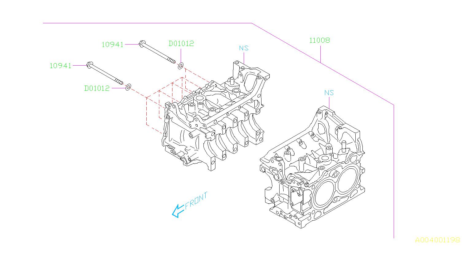Subaru Forester Straight Pin 25b 2 25b 2 36d 4 Ej25
