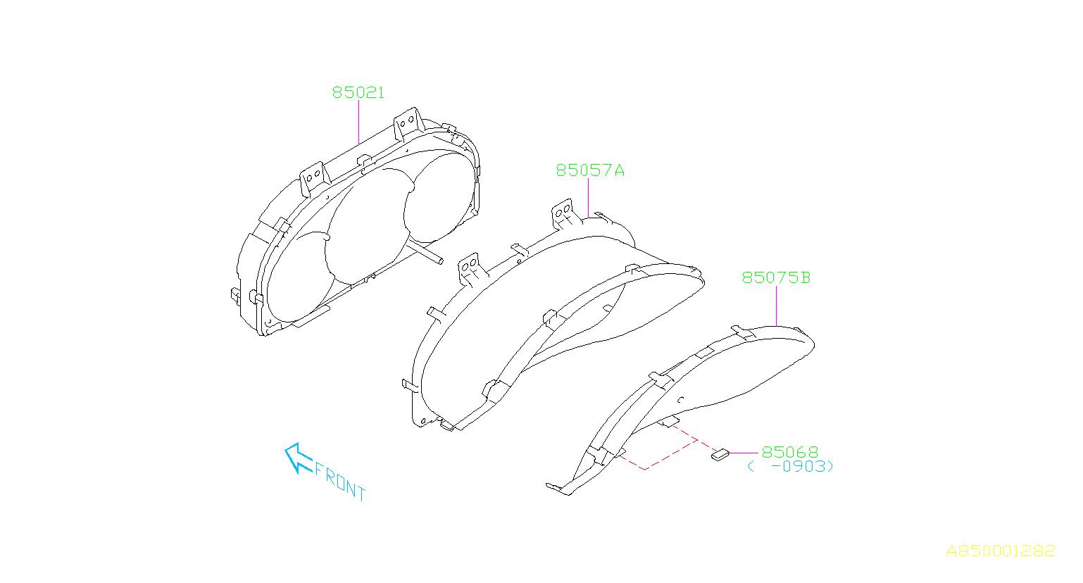 Subaru Forester Instrument Cluster. Meter Main