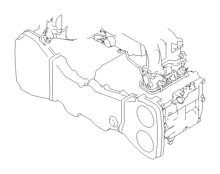 Subaru Impreza Harness-engine. Wiring, manifold, intake